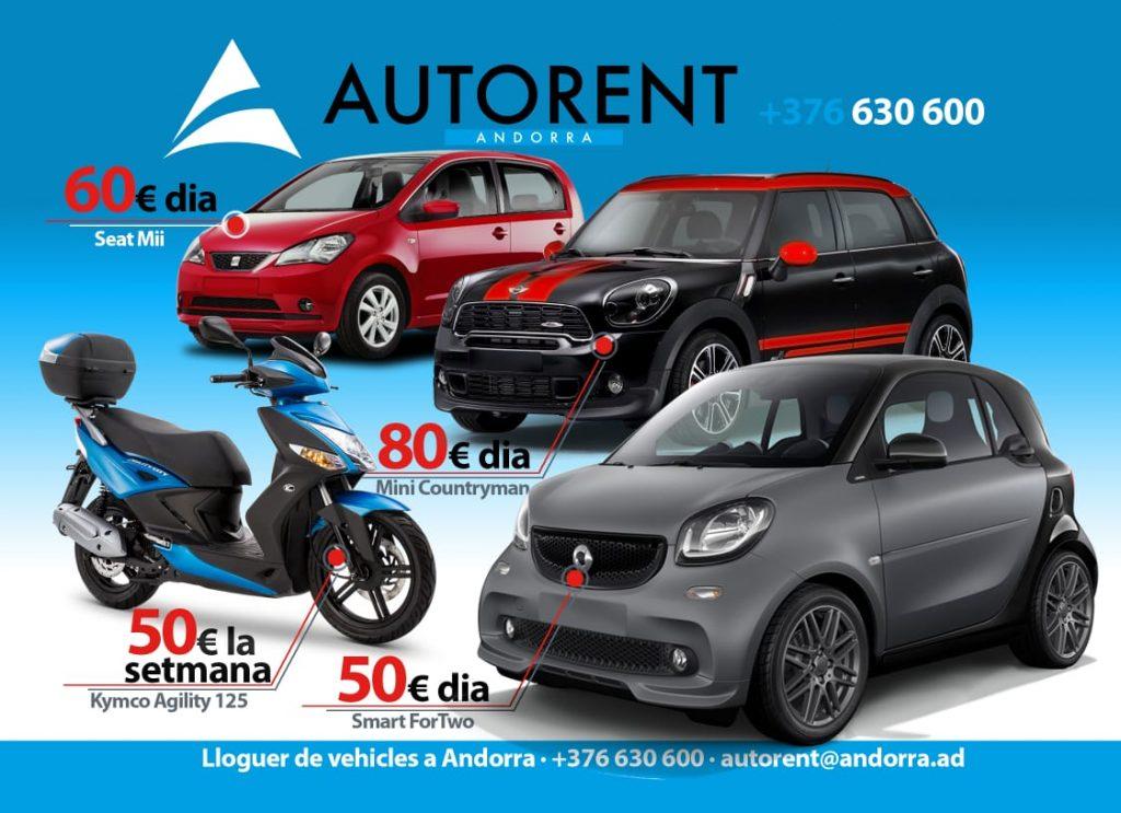 Alquiler de coches y motos Andorra